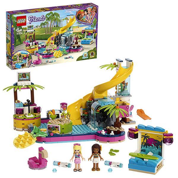 Конструктор LEGO Friends (арт. 41374) «Вечеринка Андреа у бассейна»