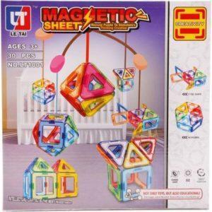 Магнитный конструктор «Creativity» (30 элементов, арт. LT1001)