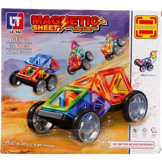 Магнитный конструктор «Ралли» (32 детали, арт. LT3001)