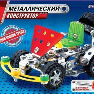 Металлический конструктор Город Мастеров «Машинка» (113 деталей, арт. 1216)