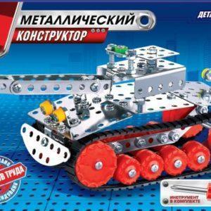 Металлический конструктор Город Мастеров «Танк» (175 деталей, арт. 1220)