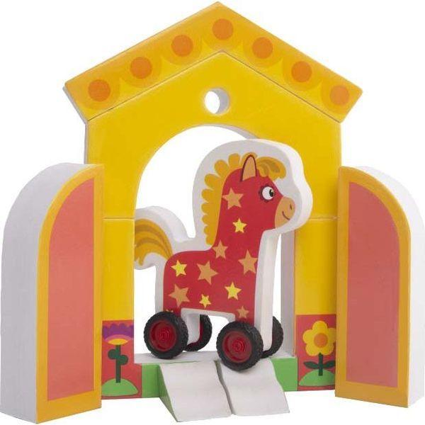 Мягкий конструктор Деревяшки Лошадка Иго-Го