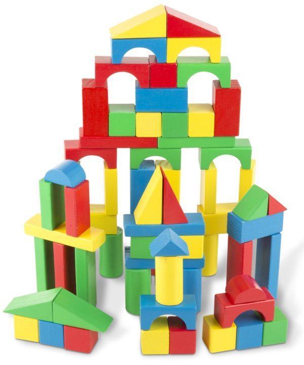 Набор цветных блоков, 100 деталей