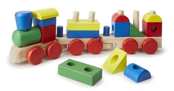 Паровоз-конструктор из серии Классические игрушки