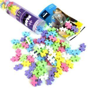 Plus Plus 4025 Разноцветный конструктор для создания 3D моделей (пастель)