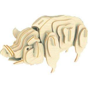 Сборная деревянная модель «Свинья» (арт. М012)