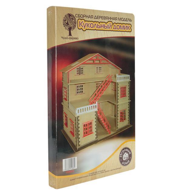 Сборная деревянная модель Wooden Toys Кукольный домик