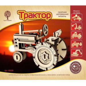 Сборная модель деревянная «Трактор» (арт. 80091)