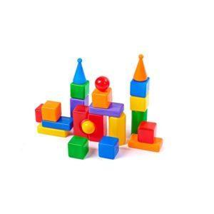 Строительный набор-конструктор «Стена-2» (22 элемента)