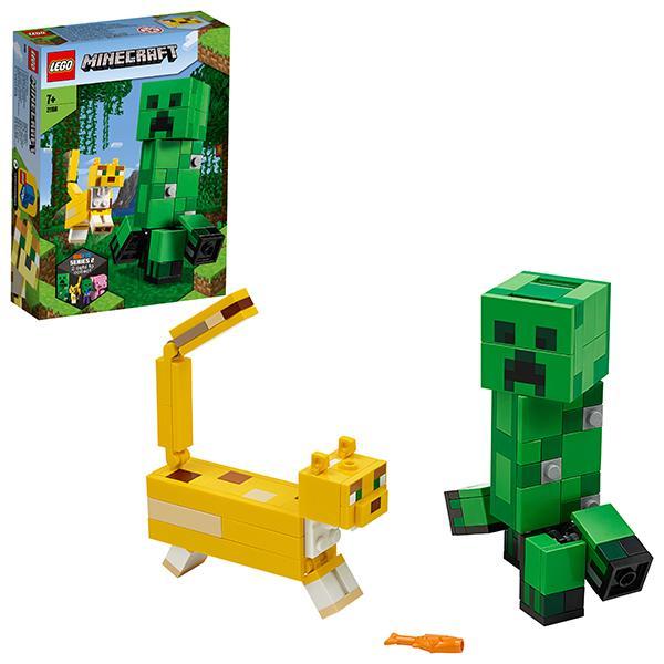 Конструктор LEGO Minecraft (арт. 21156) «Большие фигурки Minecraft: Крипер и Оцелот»