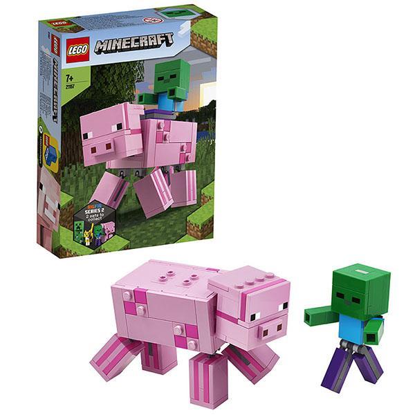 Конструктор LEGO Minecraft (арт. 21157) «Большие фигурки Minecraft: Свинья и Зомби-ребёнок»