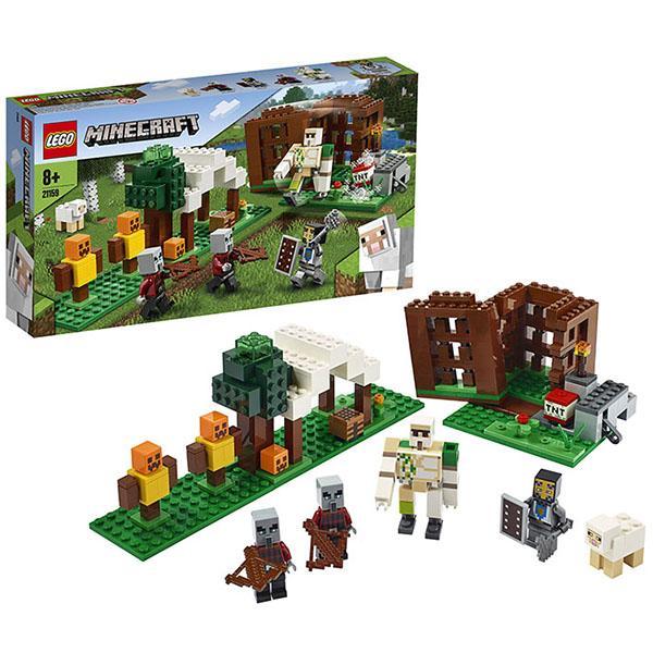 Конструктор LEGO Minecraft (арт. 21159) «Аванпост разбойников»