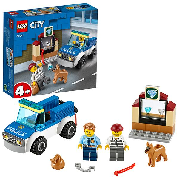 Конструктор LEGO City (арт. 60241) «Полицейский отряд с собакой»