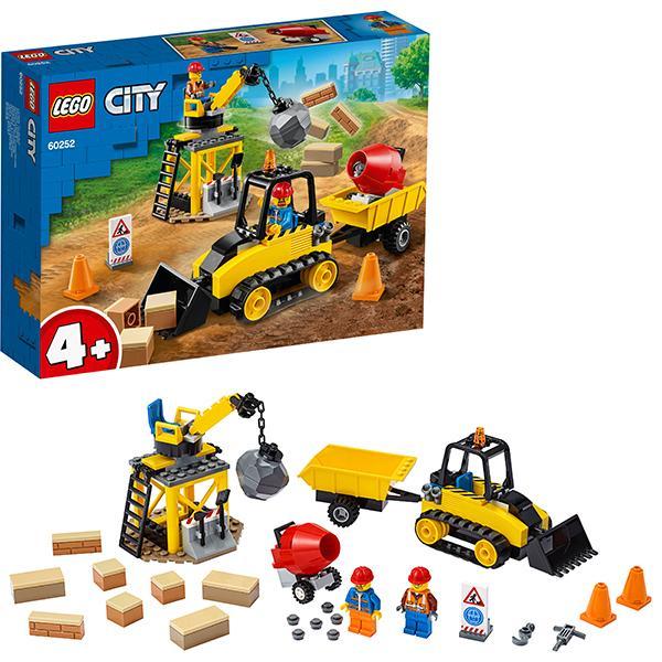 Конструктор LEGO City (арт. 60252) «Строительный бульдозер»