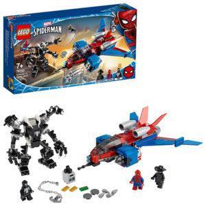 Конструктор LEGO Super Heroes (арт. 76150) «Реактивный самолёт Человека-Паука против Робота Венома»