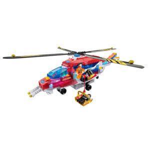 Конструктор Lite Brix «Служба спасения: Вертолёт» (арт. LB35822)