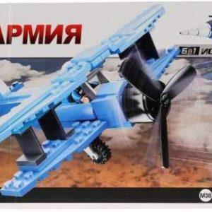 Конструктор SLUBAN Военный самолет 120 элементов M38-B0666B