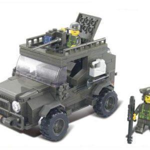 Конструктор SLUBAN Военный автомобиль 221 элемент M38-B0299