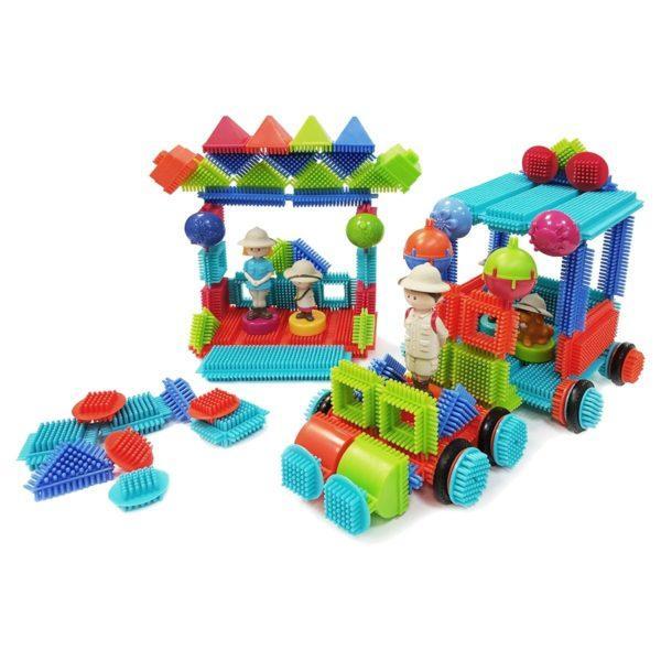 Bristle Blocks Конструктор игольчатый в чемоданчике, 113 деталей