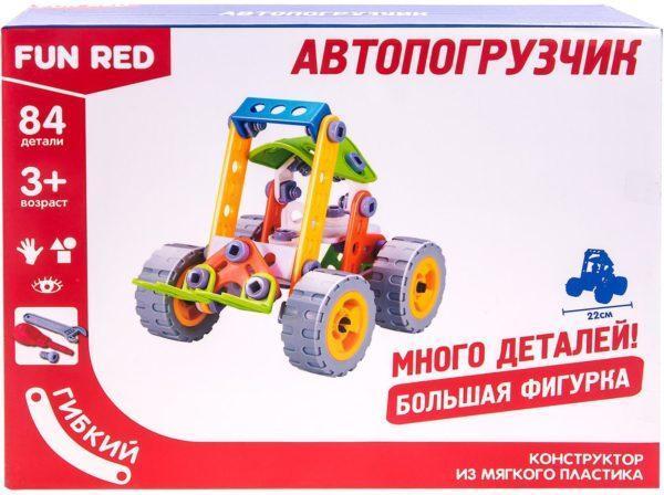 """Fun Red """"Автопогрузчик - 84 детали"""" - гибкий конструктор"""