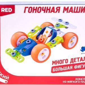 "Fun Red ""Гоночная машина - 60 деталей"" - гибкий конструктор"