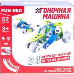 "Fun Red ""Транспорт 2в1 - 52 детали"" - гибкий конструктор"