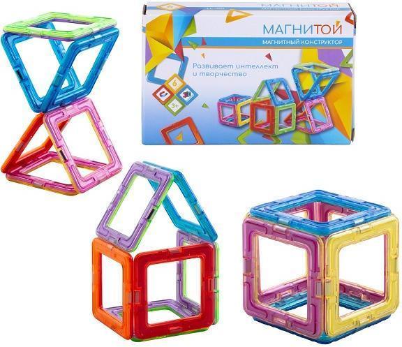 Конструктор магнитный «6 квадратов» (арт. LL-1001)