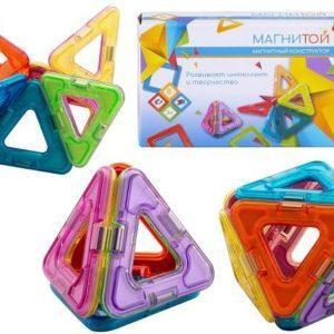 Конструктор магнитный Магнитой «8 треугольников» (арт. LL-1002)