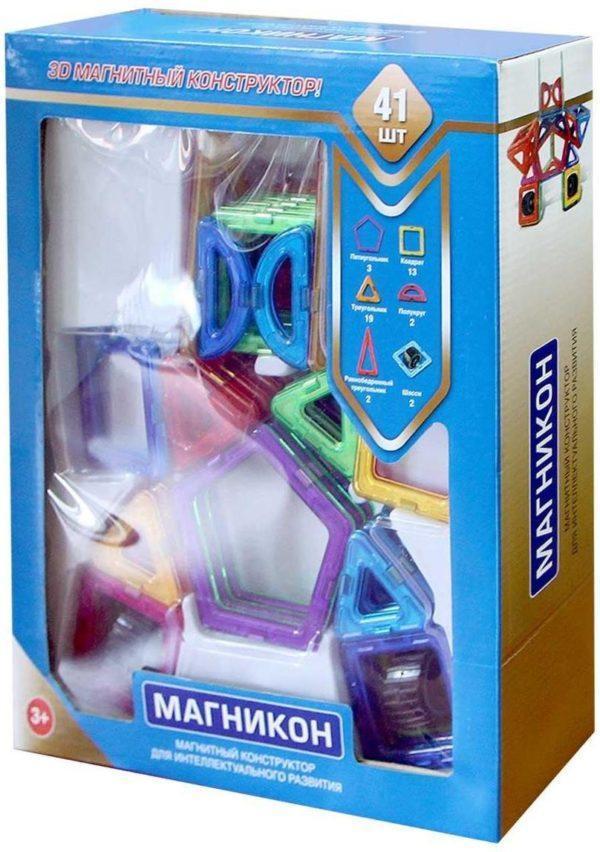 Конструктор магнитный «Робот МК-41» (41 деталь)