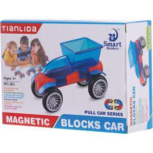 Магнитный конструктор Junfa Toys «Машинка» (сине-красная)