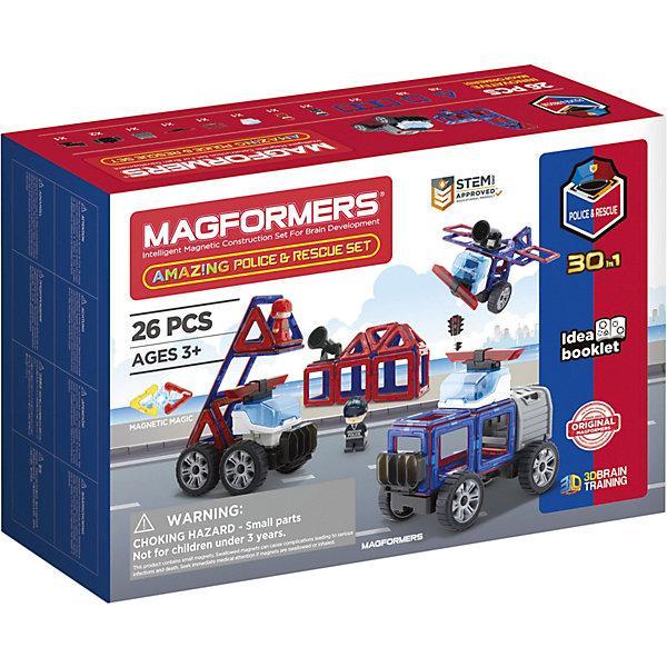 Магнитный конструктор Magformers 30 в 1 «Полиция и службы спасения» (26 деталей)