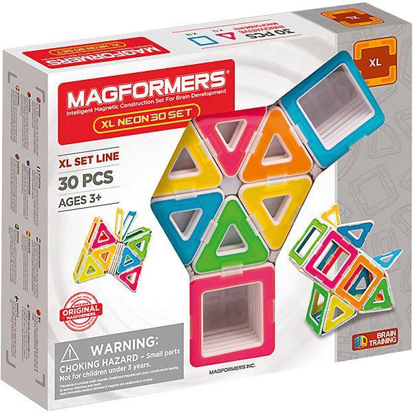 Магнитный конструктор Magformers «Большой неоновый набор» (30 деталей)