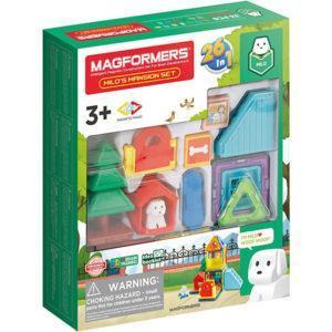Магнитный конструктор Magformers «Домик для пёсика Майло» (33 элемента)