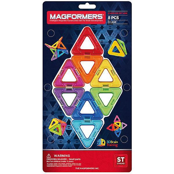 Магнитный конструктор Magformers «Треугольники» (8 деталей)