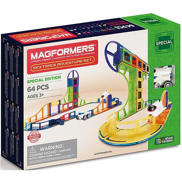 Магнитный конструктор Magformers «Вагонетка на магнитной подушке» (64 элемента, арт. 799012)