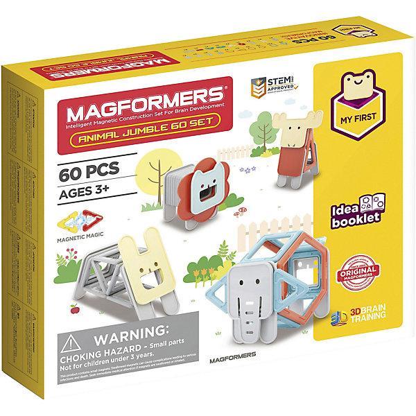 Магнитный конструктор Magformers «Животные» (60 деталей)
