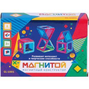 Магнитный конструктор Магнитой «6 квадратов» (арт. GL-1001)