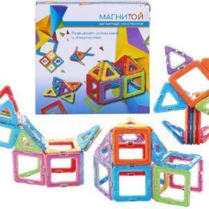 """Магнитой Конструктор магнитный """"12 квадратов, 8 треугольников"""""""