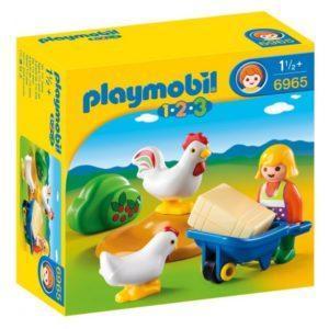 Игровой набор Playmobil «1.2.3.: Жена фермера с курочками» (арт. 6965)