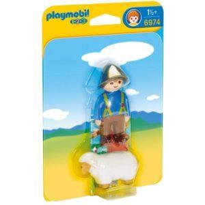 Игровой набор Playmobil «1.2.3.: Пастух с овечкой» (арт. 6974)