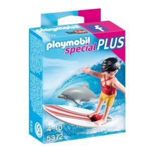 Игровой экстра-набор Playmobil «Сёрфингистка на доске с дельфином» (арт. 5372)