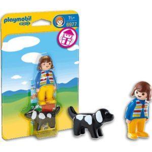 Игровой набор Playmobil «1.2.3: Девочка с собакой» (арт. 6977)