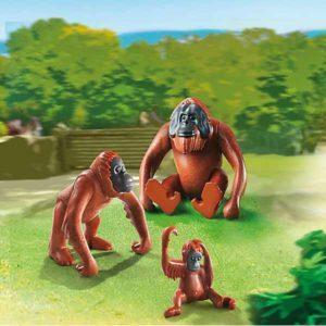 Игровой набор Playmobil из 3 фигурок «Зоопарк: Семья орангутангов» (арт. 6648)