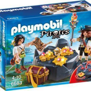 Игровой набор Playmobil «Пираты: Пиратский тайник с сокровищами» (арт. 6683)
