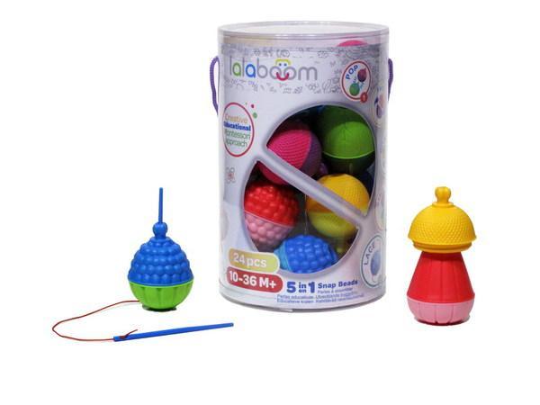 Игрушка развивающая 5 в 1 Lalaboom (24 предмета, арт. BL200)