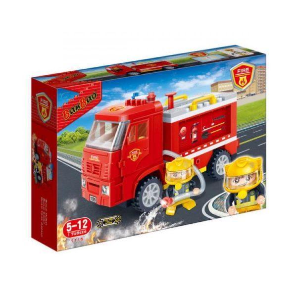 Конструктор BanBao инерционный «Пожарный грузовик» (126 деталей, арт. 7116)