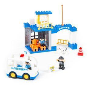 Конструктор блочный «Полицейский участок» (36 элементов, арт. 77554)