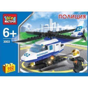 Конструктор Город мастеров «Полиция: Полицейский вертолёт» (102 детали, арт. 3003)