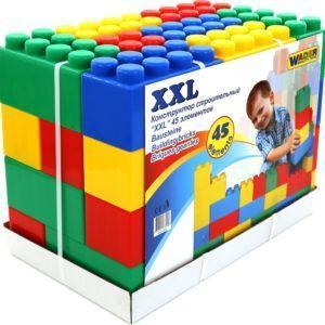 Конструктор строительный блочный Полесье «XXL» (45 элементов, арт. 37510)