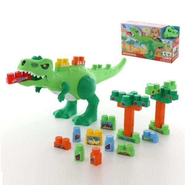 Набор Полесье «Динозавр с конструктором» (30 элементов, арт. 67807)
